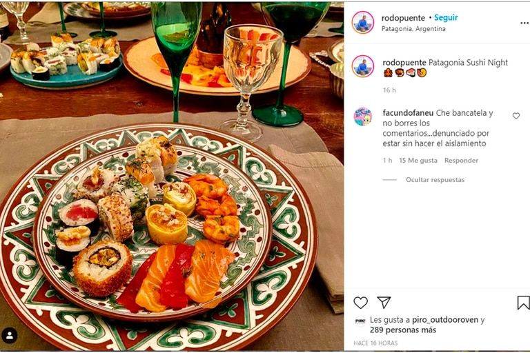 Un posteo de la cuenta de Instagram de Puente del 14 de agosto de 2020