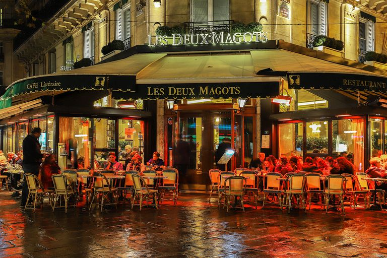 El café Les Deux Magots en Paris