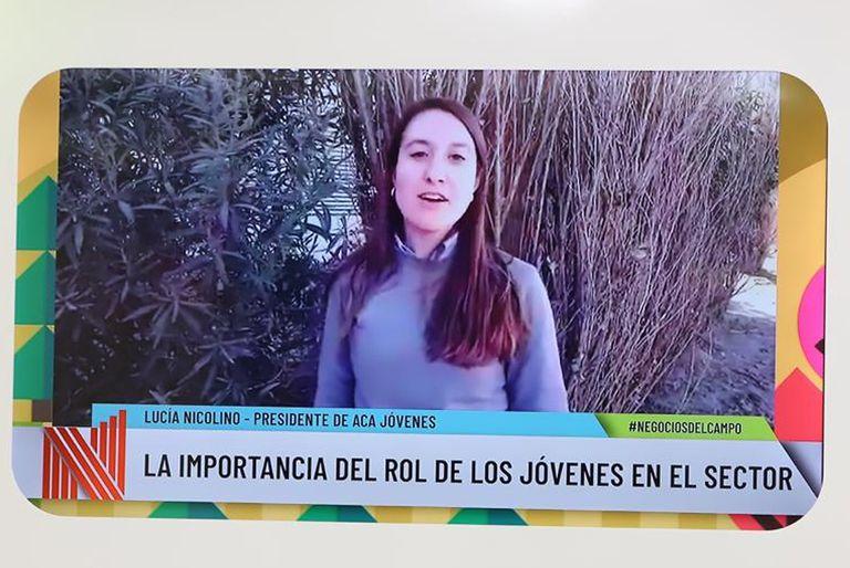 Lucía Nicolino es presidenta de ACA Jóvenes y desde chica se vinculó al sector agropecuario y cooperativista