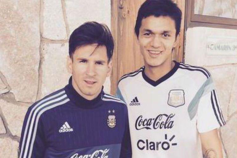 Dos de Newell´s: Facundo Pardo junto a Lionel Messi