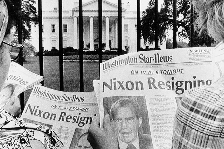 La investigación periodística del Washington Post derivó en la renuncia del presidente Richard Nixon