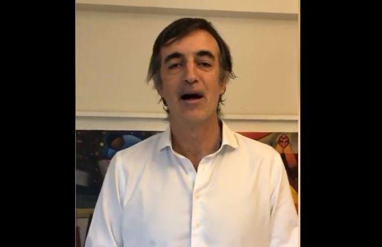 Con mucho esfuerzo, Esteban Bullrich le envió un mensaje de apoyo a Frigerio