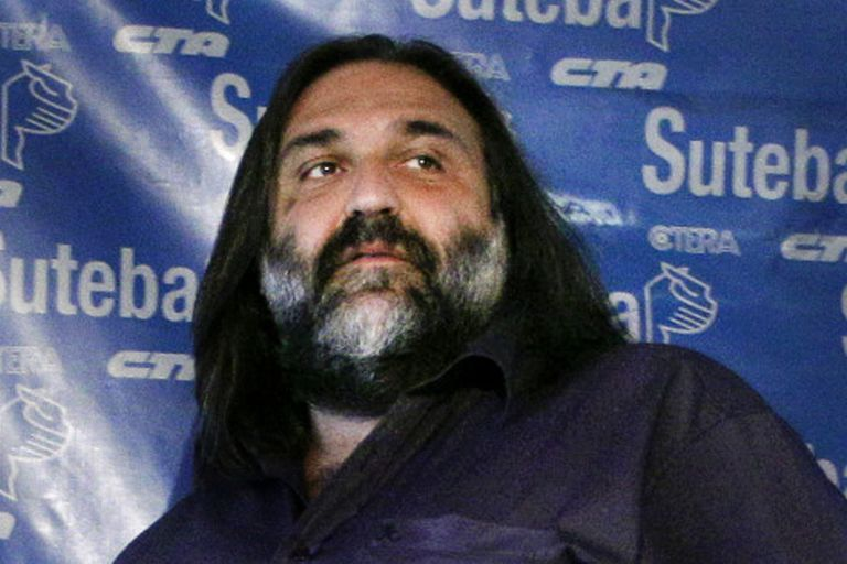 El líder sindical docente Roberto Baradel