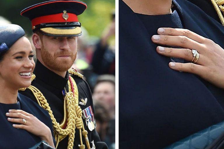Cuando después del nacimiento de Archie la duquesa de Sussex reapareció con una nueva versión del anillo de compromiso que recibió de Harry, los rumores apuntaron a que se trataba de un capricho de la ex actriz. La biografía de la pareja cuenta la verdad