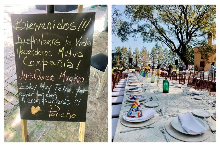 Los invitados fueron recibidos con un caluroso mensaje de Pancho