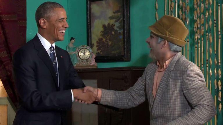 El presidente de EE.UU. concretó una visita histórica