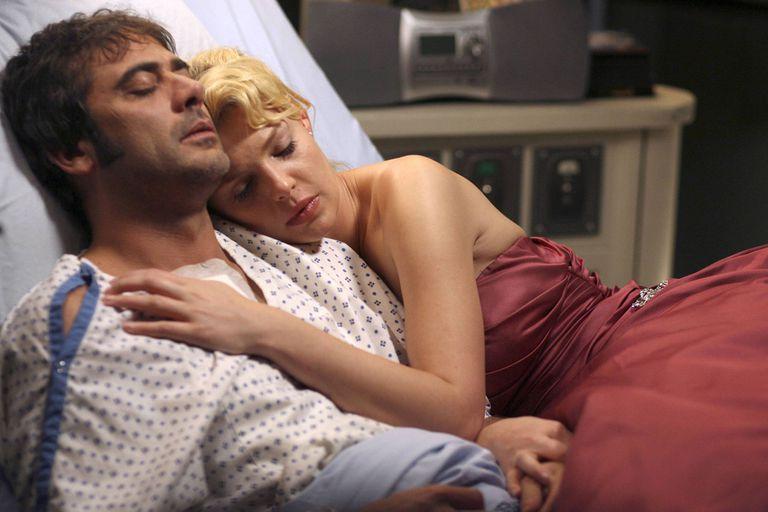 Katherine Heigl, en la piel de la doctora Izzie Stevens, en una memorable escena de Grey's Anatomy