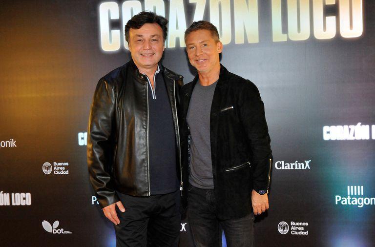 Adrián Suar junto al director de la película, Marcos Carnevale