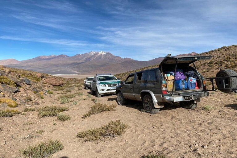 Un procedimiento se realizó en las cercanías de la quebrada El Aracar, a 4300 metros sobre el nivel del mar