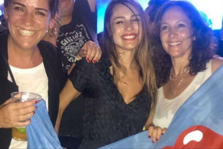 En medio del escándalo con la China, Pampita bailó con los Stones en Miami