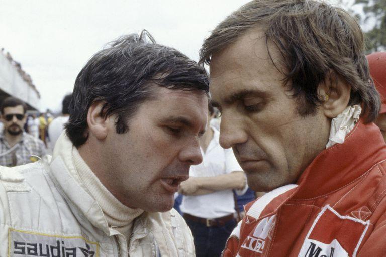 Carlos Reutemann con Alan Jones, su enemigo íntimo en el equipo Williams
