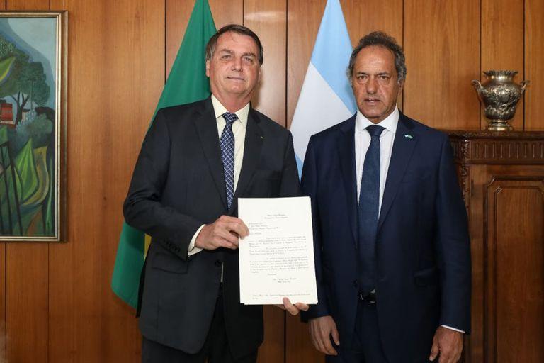 Jair Bolsonaro y Daniel Scioli