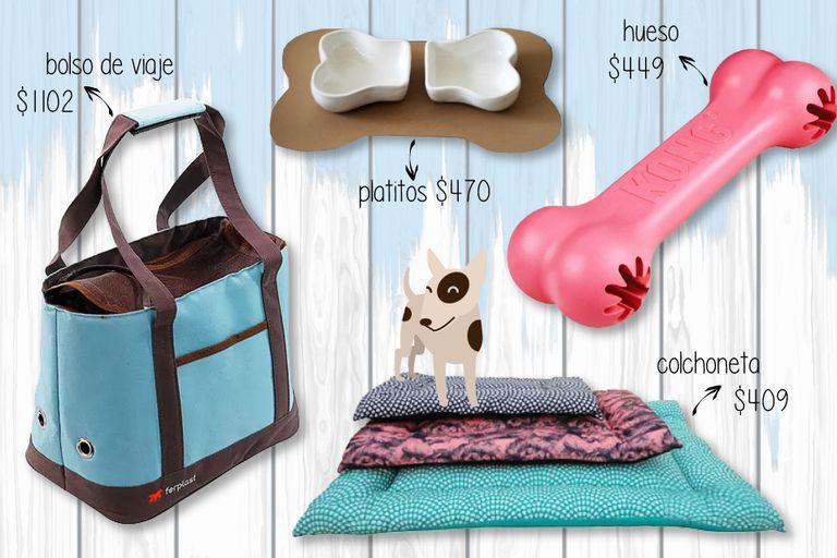 Bolso y Colchonetas de Puppis / Platitos de La Tienda de Pichichos / Hueso de Houndog