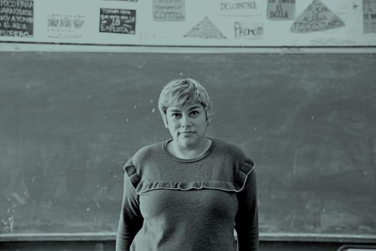 Silvana Corso, directora de la Escuela de Educación Media N°2 Rumania    Foto: Silvana Colombo