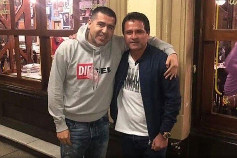 Riquelme y Marcelo Delgado, amigos y hoy miembros del Consejo de Fútbol de Boca