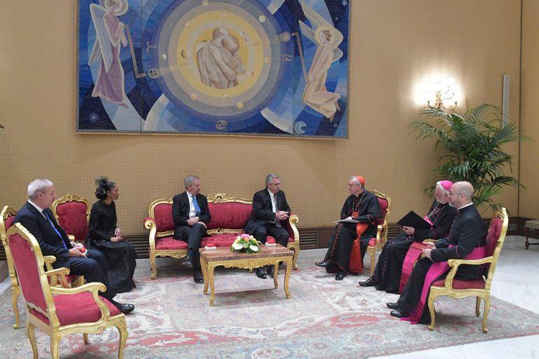Alberto Fernández visitó al Papa Francisco