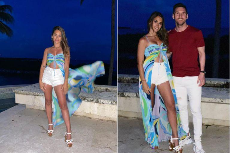 Antonela Roccuzzo deslumbró con su look playero en las costas de Miami