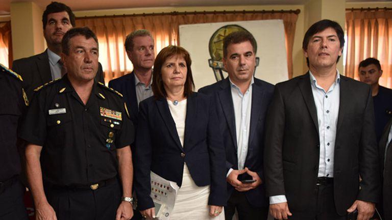 La conferencia de prensa tras la detención de los barras de Independiente
