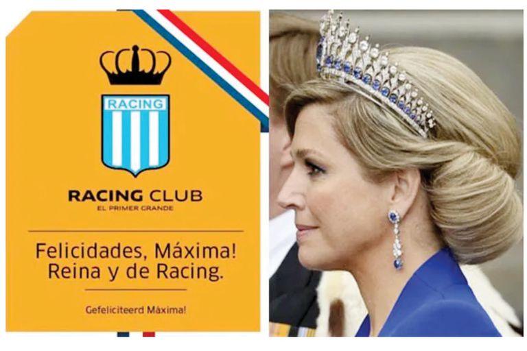 Cuando en 2013 se convirtió en Reina, Racing Club la saludó