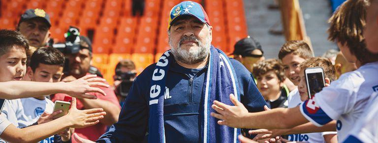 Maradona, en el Bosque