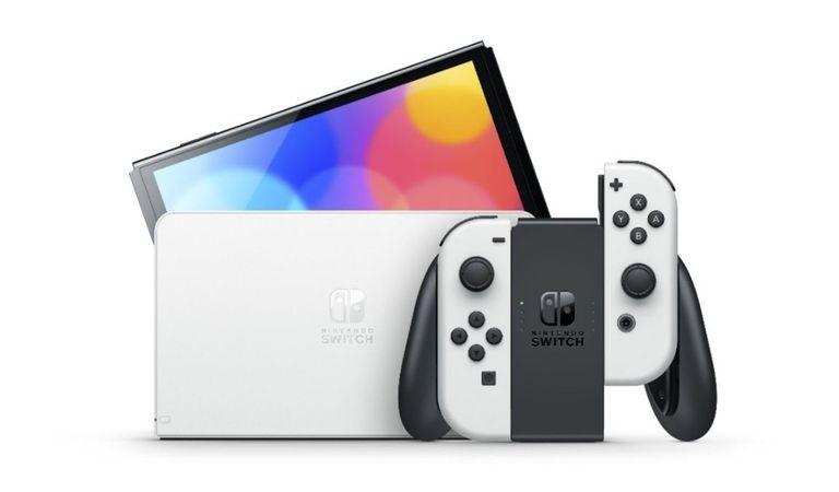 08-10-2021 Nintendo Switch con pantalla OLED.  La nueva incorporación a la familia Nintendo Switch llega al mercado este viernes con una pantalla OLED de 7 pulgadas y alto contraste, junto con Metroid Dread, el juego desarrollado en colaboración con el estudio español Mercury Steam.  POLITICA INVESTIGACIÓN Y TECNOLOGÍA NINTENDO