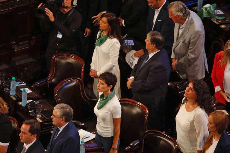 Los pañuelos verdes se hicieron presentes a lo largo de todo el Congreso