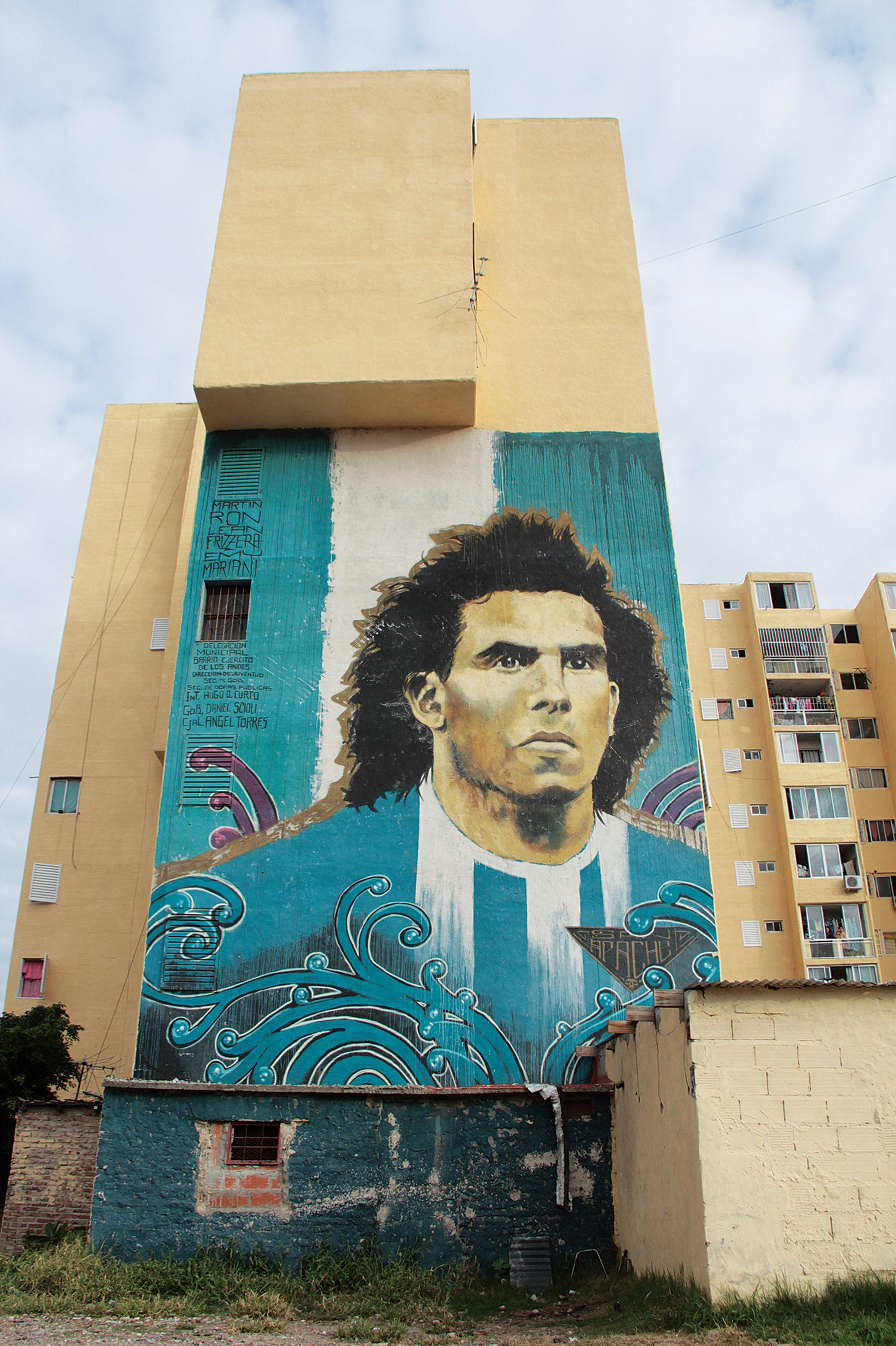 La pintura de Tevez, un emblema que cruzó fronteras