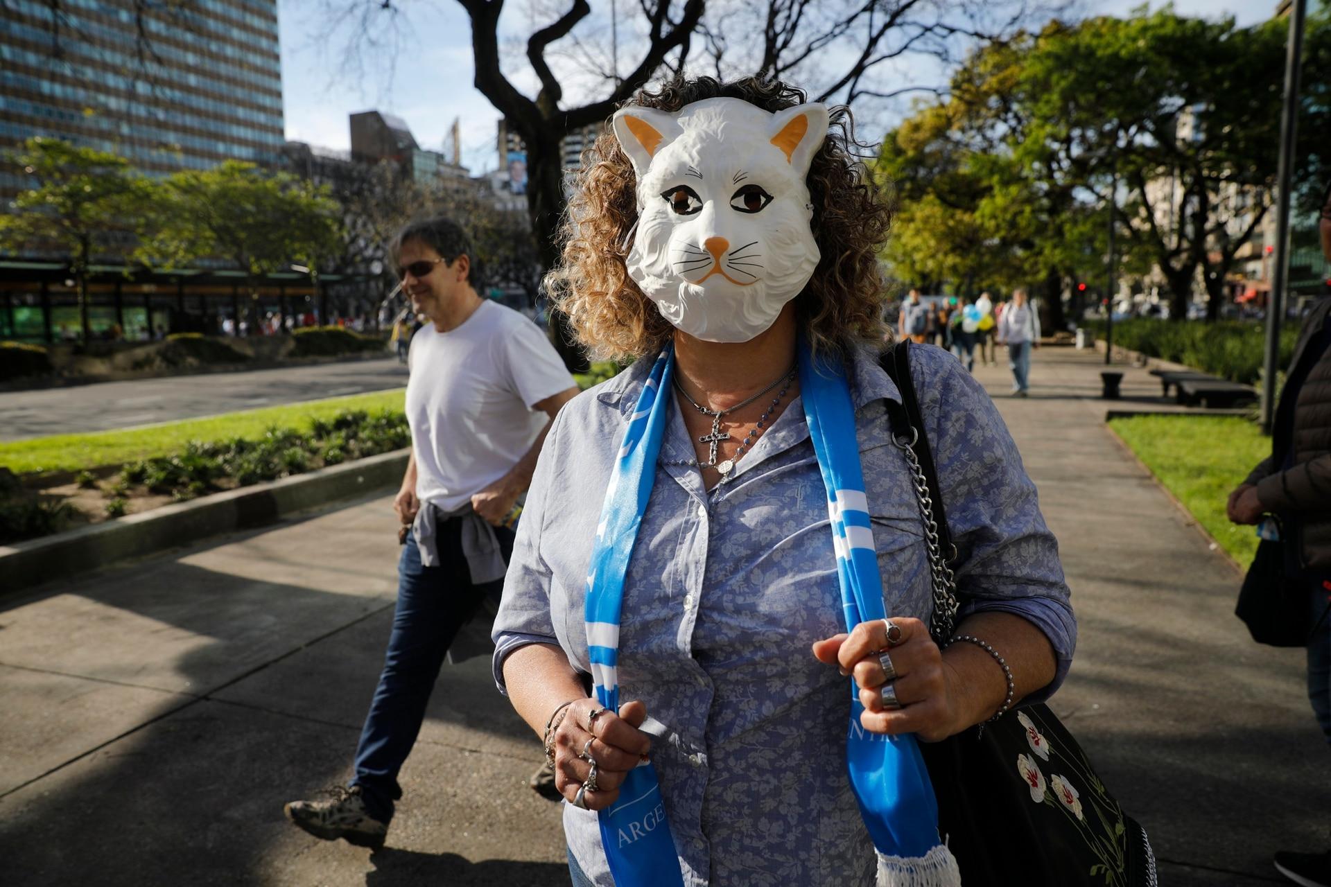 Algunos asistentes optaron por máscaras