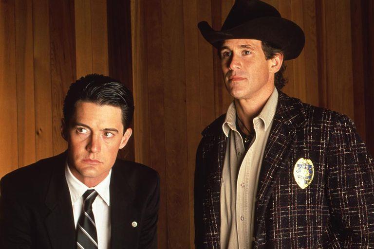 Los protagonistas de la emblemática serie Twin Peaks, en 1990
