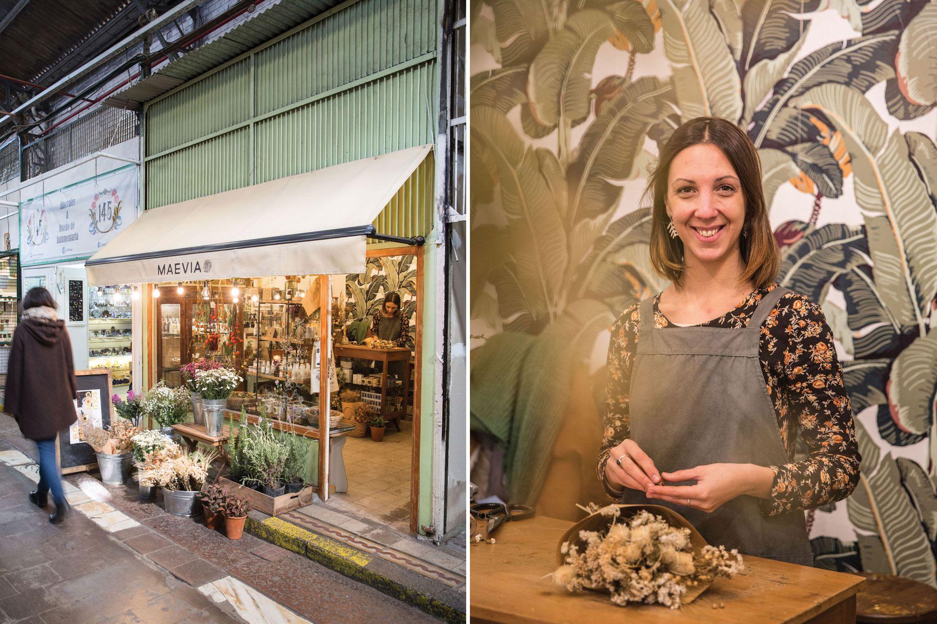 Maevia, una perlita botánica dentro del Mercado de San Telmo.