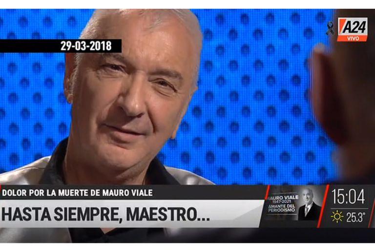 """""""Hasta siempre, Maestro"""": así despidieron a Mauro Viale en la pantalla de A24, con un homenaje especial con sus frases célebres"""