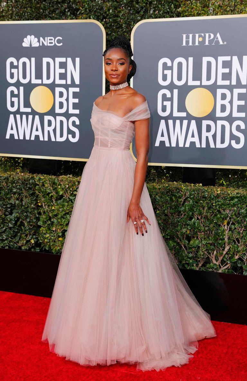 El look de Kiki Layne fue uno de los más comentados; el vestido es de Dior Haute Couture