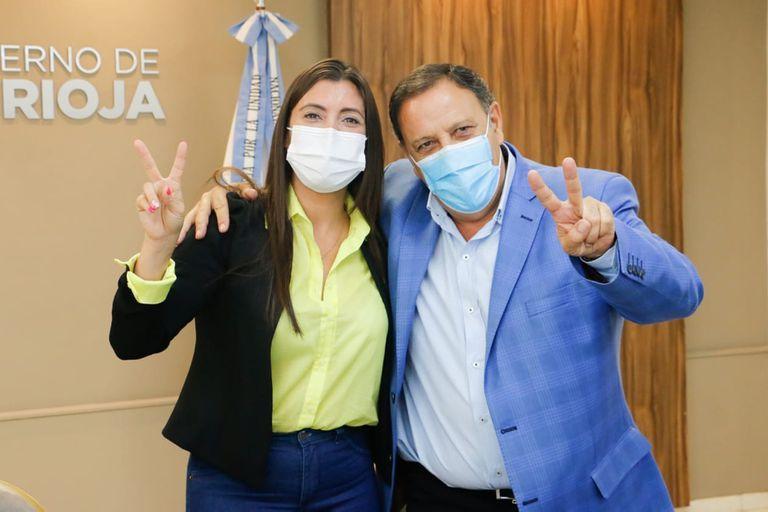 Florencia López y Ricardo Quintela, al inicio de la gestión compartida