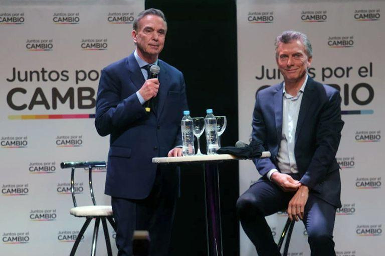 Pichetto y Macri, en campaña