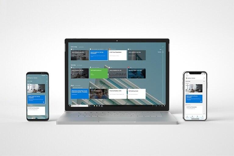 La línea de tiempo en Windows 10 tendrá su correlato en Android para facilitar el cambio de dispositivo sin interrumpir el flujo de trabajo