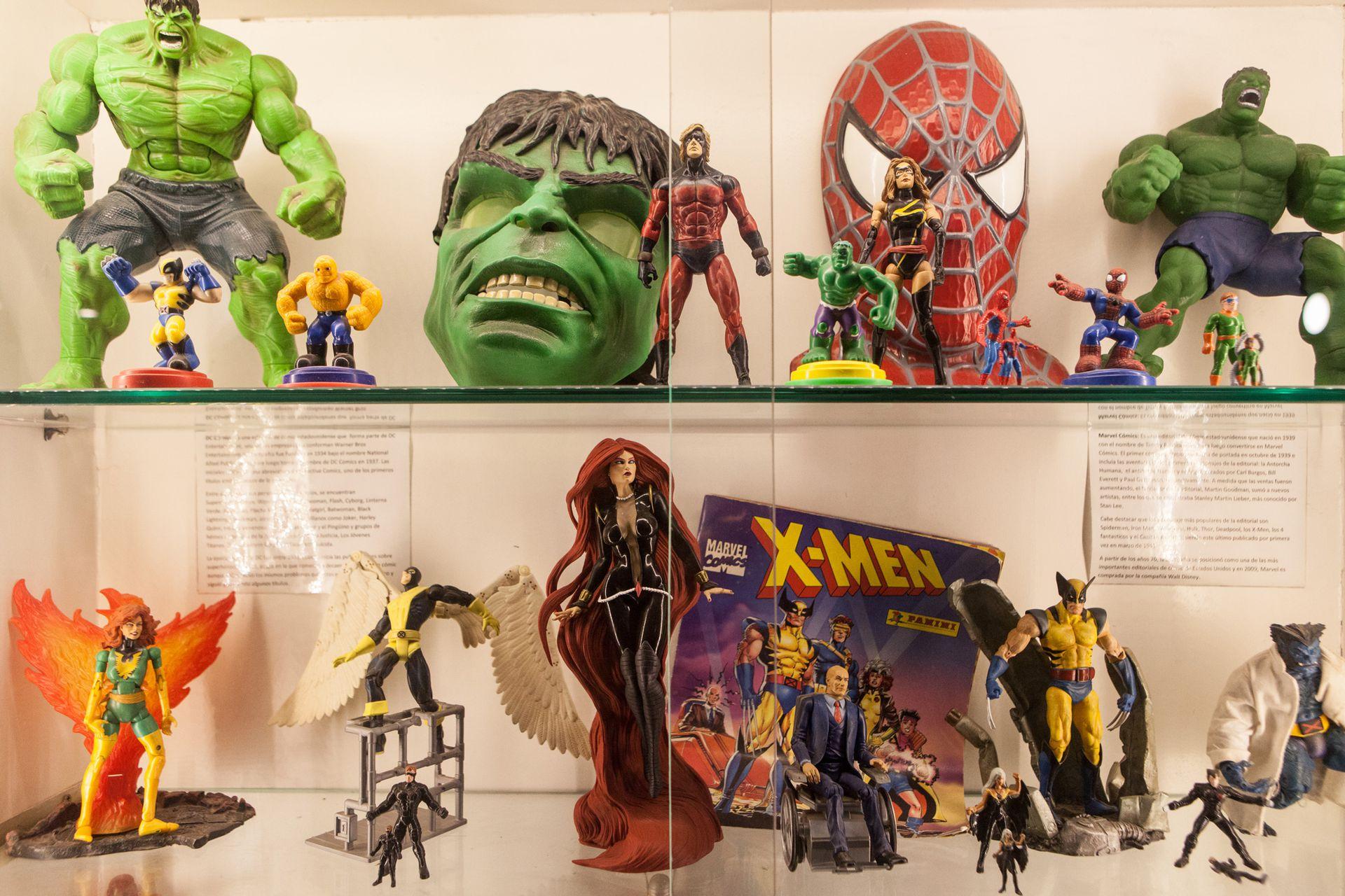X Men, Hombre Araña, Hulk son algunos de los personajes que integran la colección de Doering.