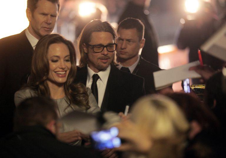 Jolie y Pitt en 2012