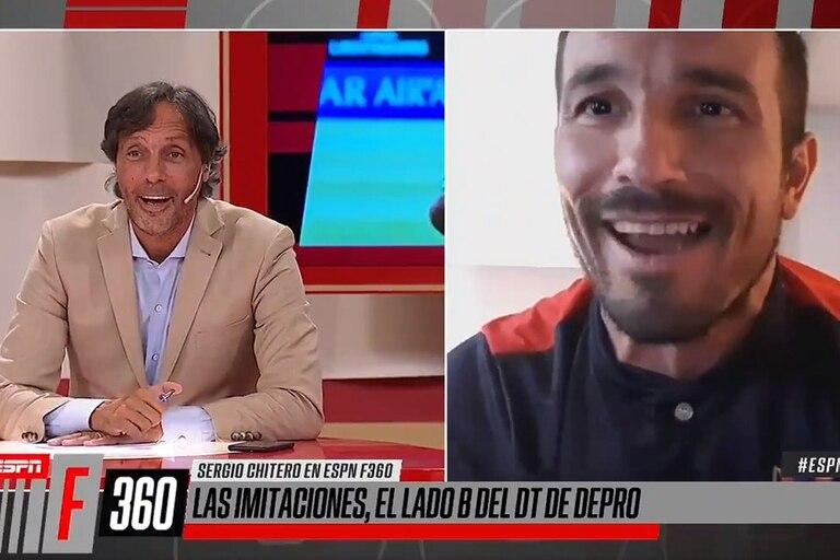 Sergio Chitero se lució con sus imitaciones en la previa del partido entre Defensores de Pronunciamiento y River