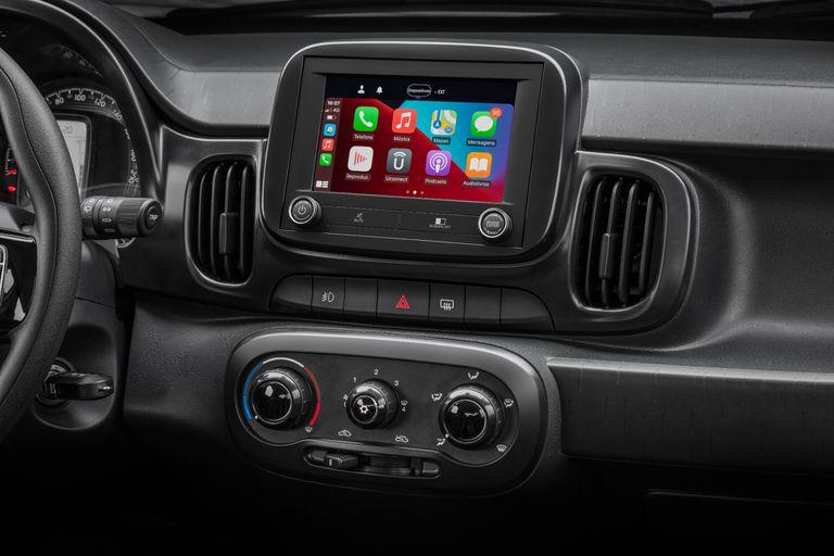La nueva central multimedia del Fiat Mobi 2021