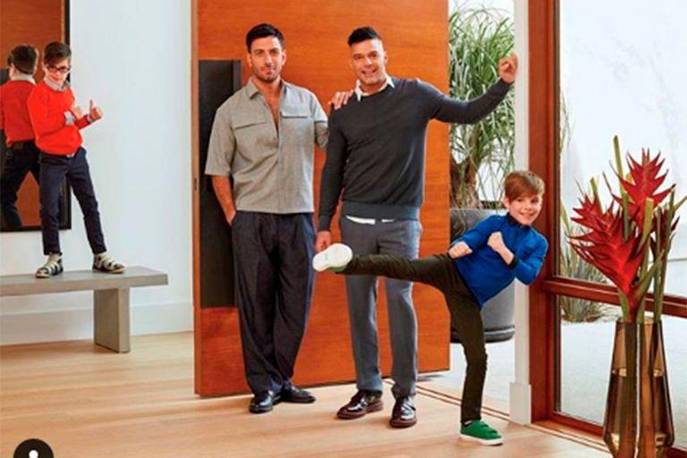 Ricky Martin compartió por primera vez una foto de su familia completa