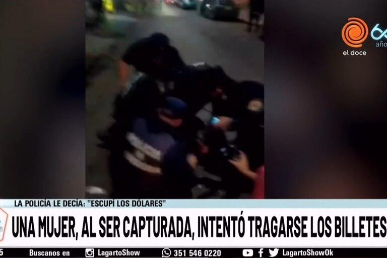 Captura del video difundido por la televisión cordobesa