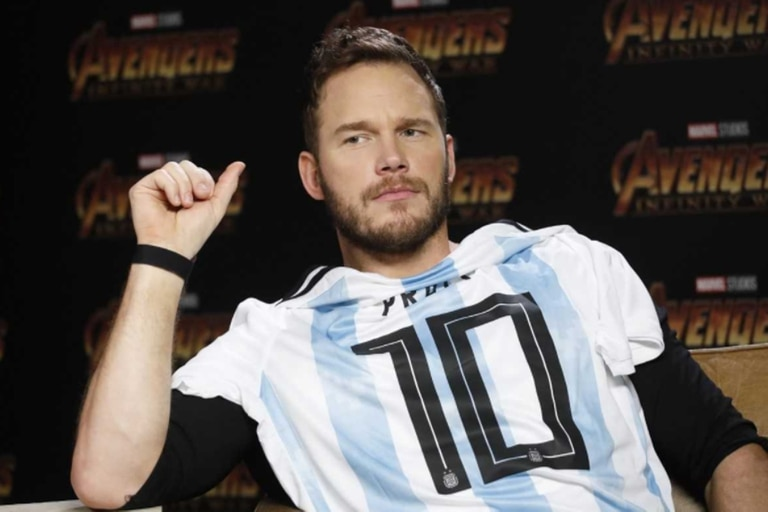 Pratt jugó a ser argentino a días de que se estrene Avengers: Infinity War en el país