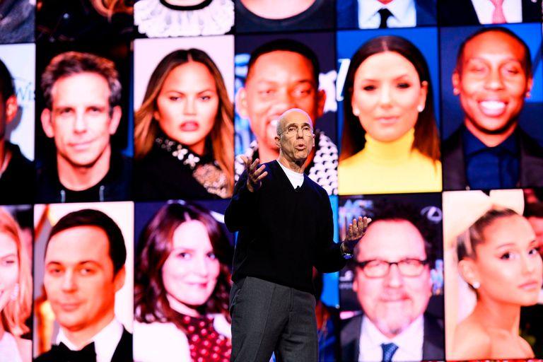 Jeffrey Katzenberg, fundador de Qubi, durante la presentación oficial en Las Vegas