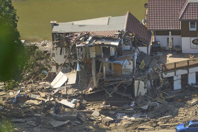 Foto tomada el 21 de julio del 2021 después de las inundaciones en Marienthal, Alemania.