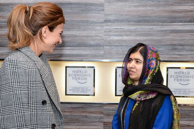 Con quiénes se reunió Juliana Awada en Davos