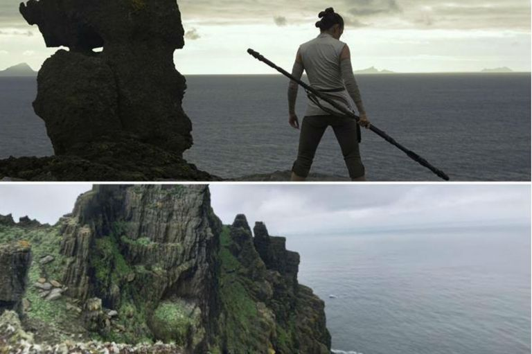 Las montañas donde la joven Rey busca infructuosamente a Luke Skywalker existen en realidad en nuestro planeta, en Irlanda