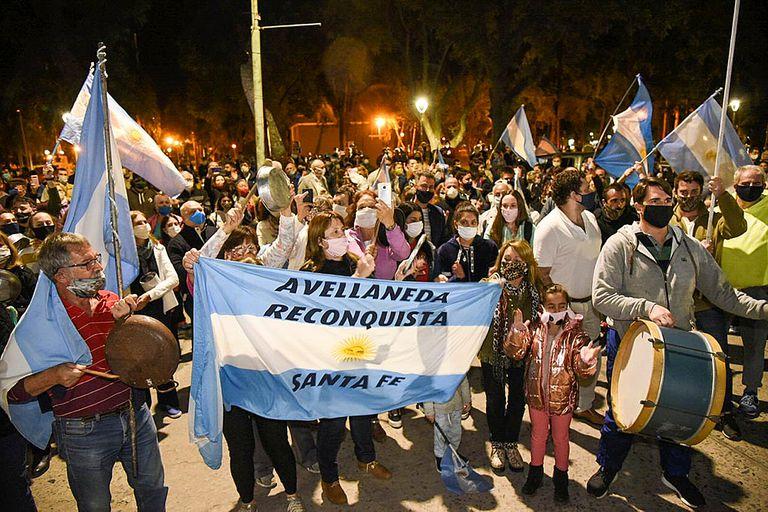 Los vecinos donde nació Vicentin, en otra protesta esta noche contra la expropiación