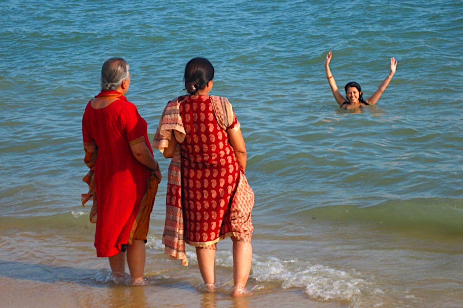 Maureen en el mar.