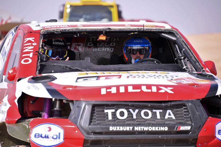 Rally Dakar: el tremendo vuelco de Fernando Alonso en la décima etapa