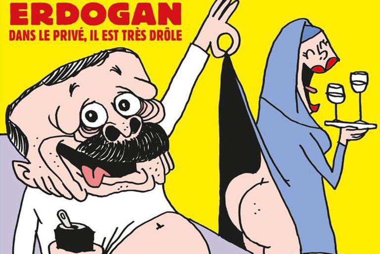 Erdogan, furioso por una caricatura de él en la nueva portada de Charlie Hebdo